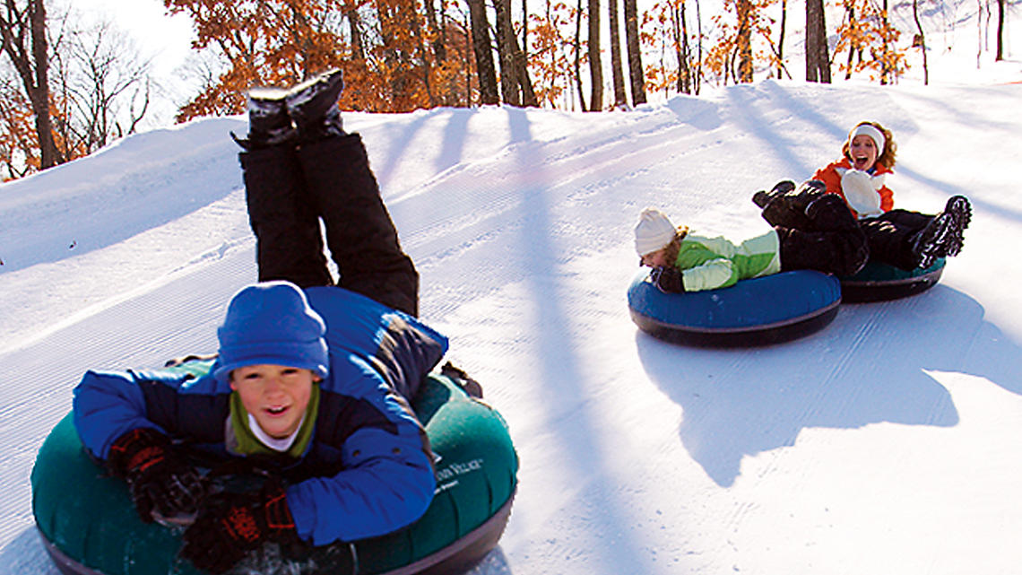 Snow tubing adventures for the whole family