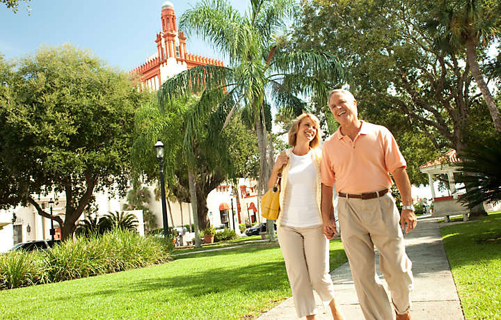 A Couple Enjoys Their Bluegreen Vacation in St. Augustine