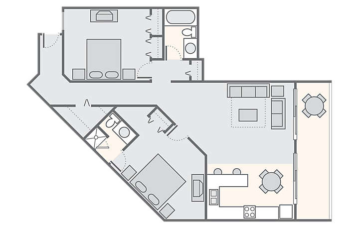 Fantasy Island Resort II 2 Bedroom Penthouse, 798 sq ft.
