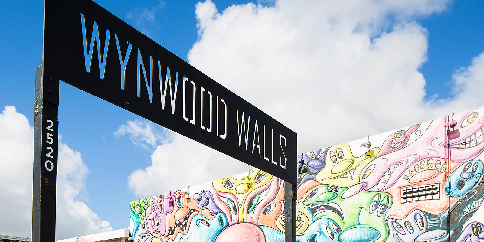 Wynwood Walls sign in Miami Design District