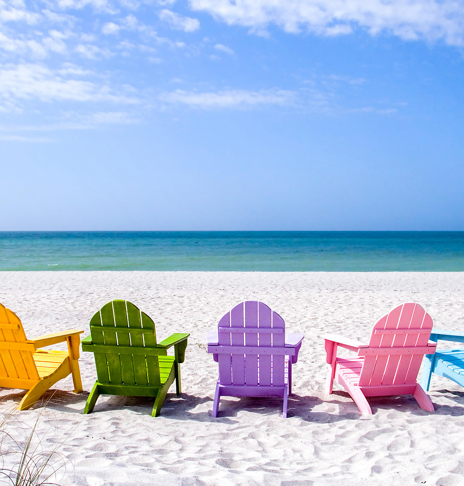 Southwest Florida Coast - Beach with chairs overlooking Gulf