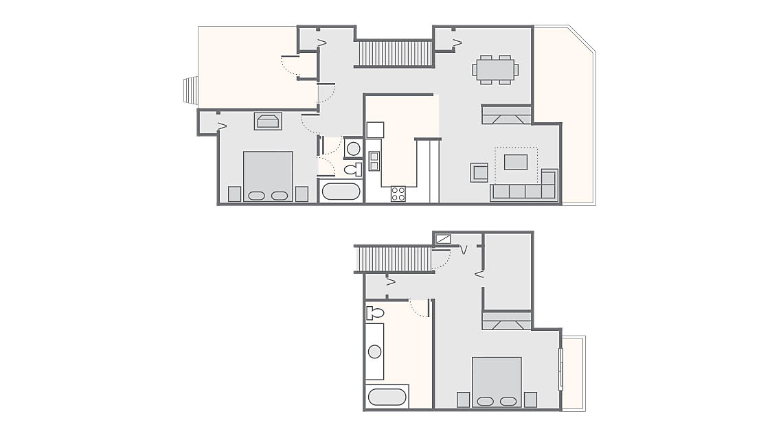 2 Bedroom 1,400 SQ FT