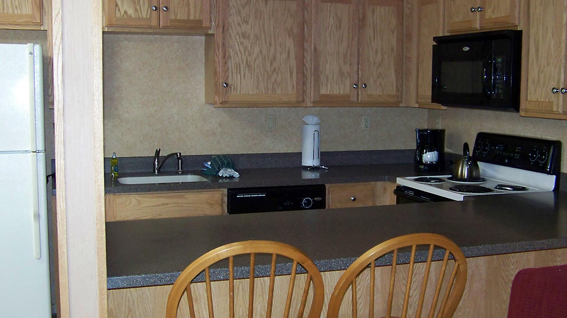 Two Bedroom Kitchen with Snack Bar