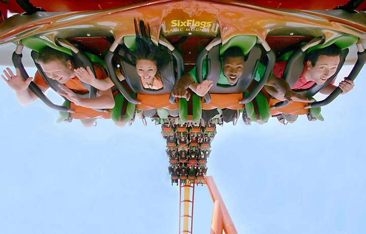Roller coaster in Georgia theme park