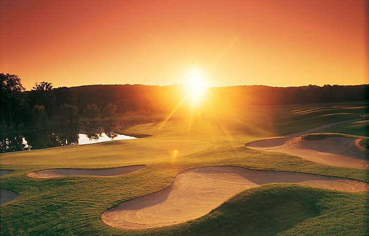 Sunrise on golf course in Michigan