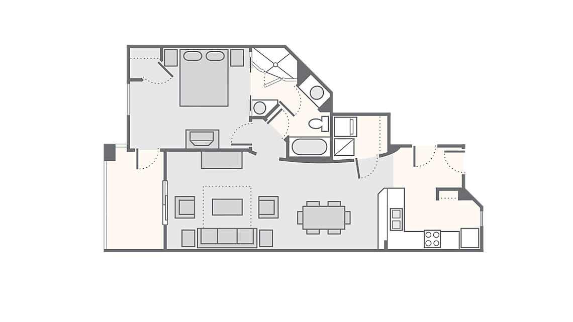 1 Bedroom Deluxe 875 SQ FT