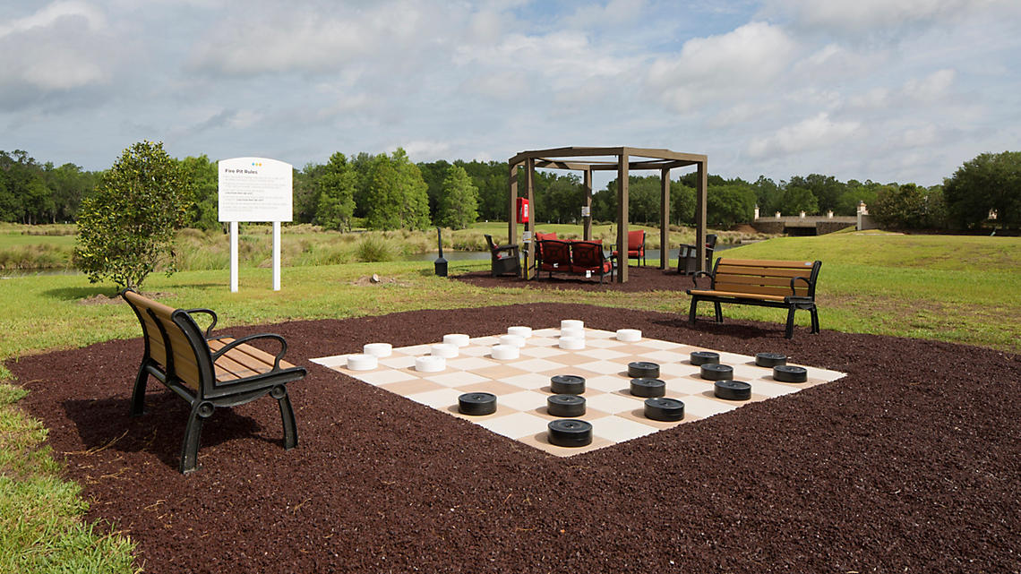 Outdoor Checkers and Recreation Area