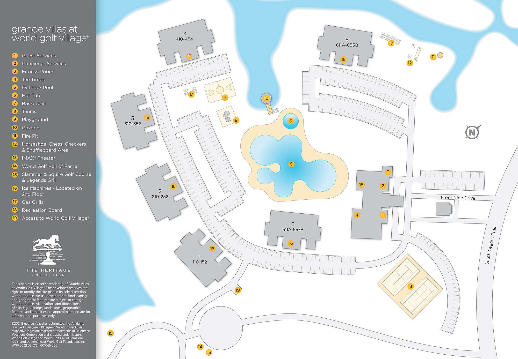 Grande Villas at World Golf Village® Site Map