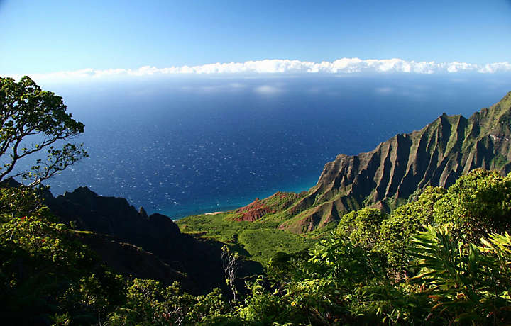 Ocean View from the Mountains in Hawaii