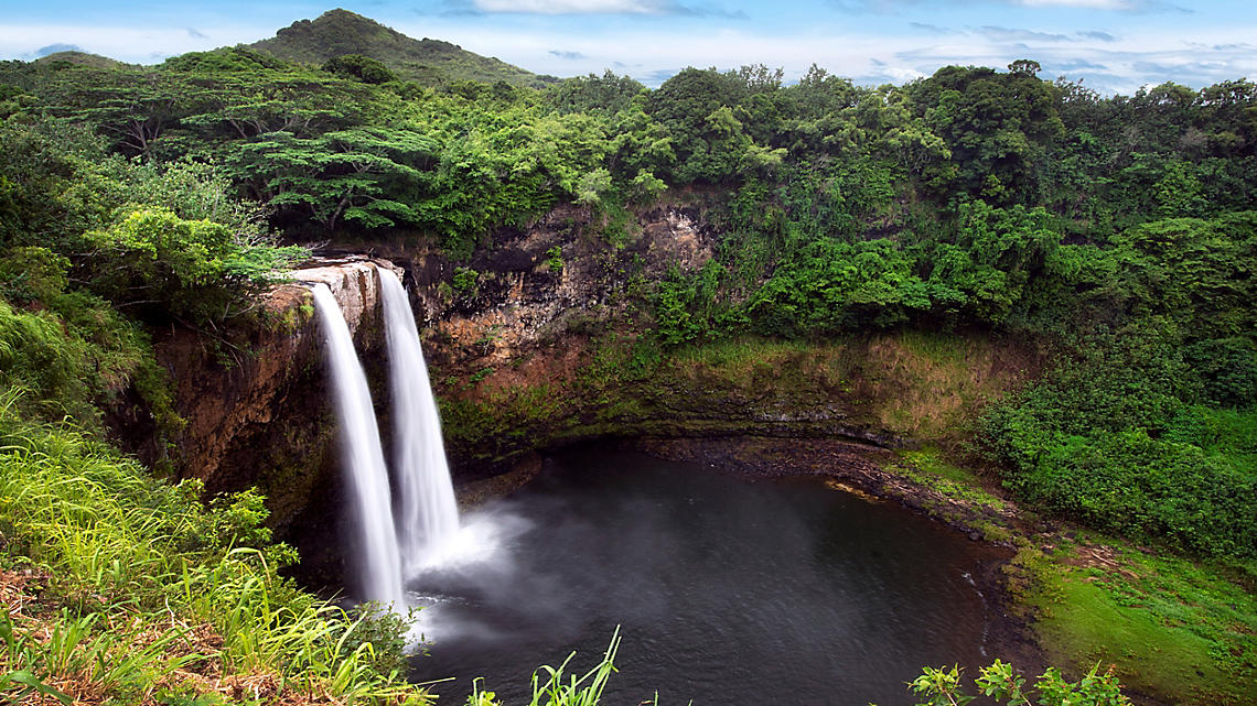 Rich natural beauty at Wailua Falls.
