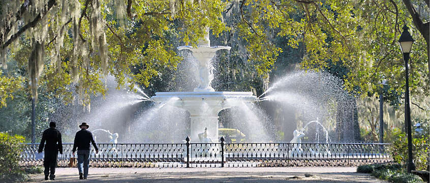 Forsyth Park's Fountain in Savannah, Georgia