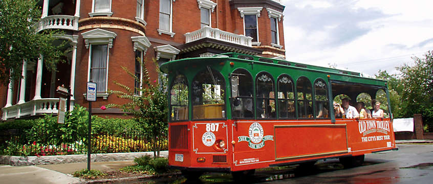 Old Town Trolley in Savannah, Georgia