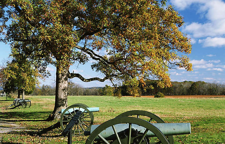 Historic cannons in Hershey, Pennsylvania