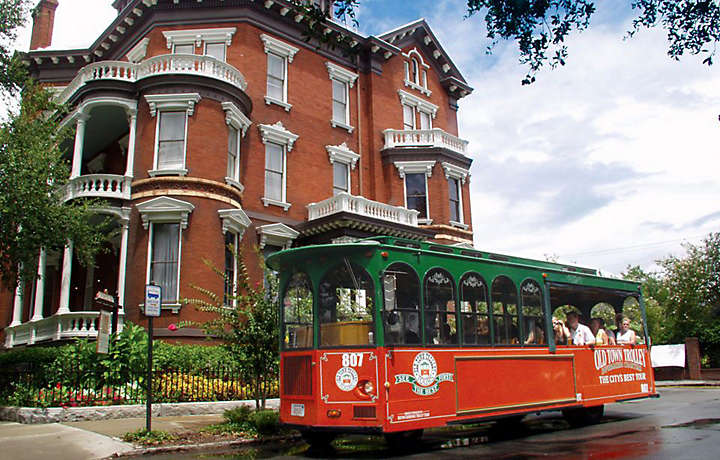 Trolley Ride Through Savannah