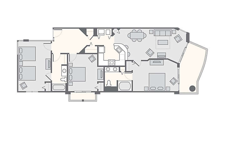 Horizons at 77th 3 Bedroom, 1,457 sq ft.