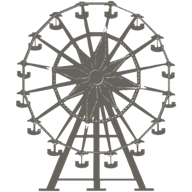The Amusement Ferris Wheel icon grey