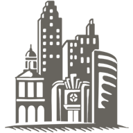 Grey cityscape icon for the Cityscape collection