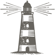 Grey lighthouse icon for the Lighthouse collection