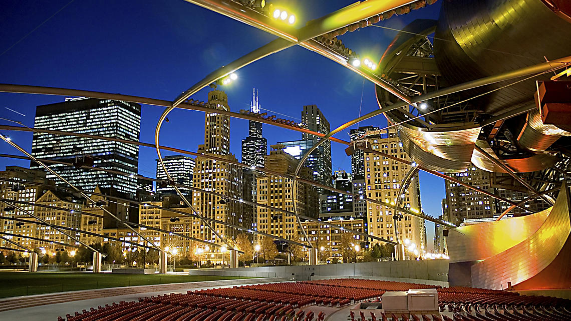 Graceful arcs shape Millennium Parks outdoor theater