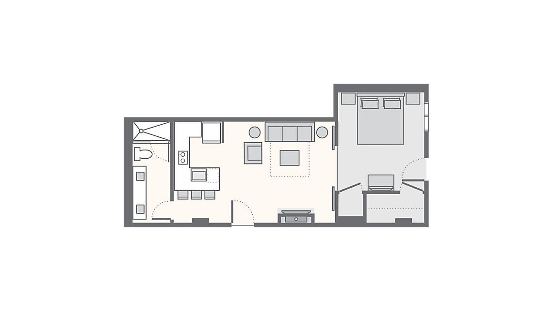 1 Bedroom Deluxe Villa 588 SQ FT