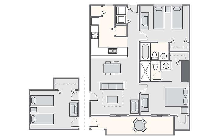 Landmark Holiday Beach Resort 2 or 3 Bedroom  1 225 sq ft. Landmark Holiday Beach Resort   Bluegreen Vacations
