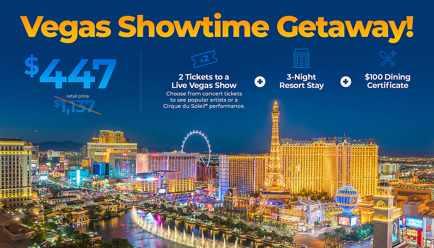 Las Vegas Showtime Getaway  Bluegreen Getaways