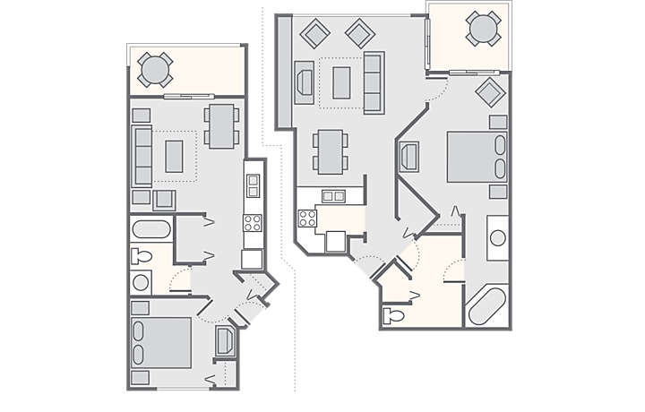 Laurel Crest™ Combined 2 Bedroom, 1,294 sq ft.