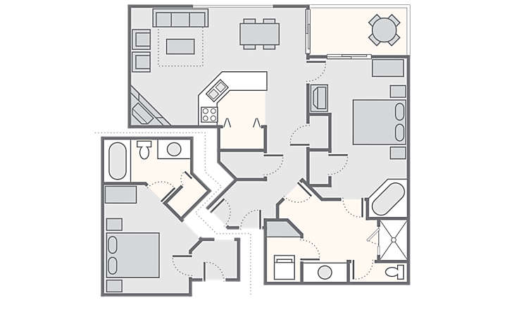 Laurel Crest™ Combined 2 Bedroom, 1,100 sq ft.