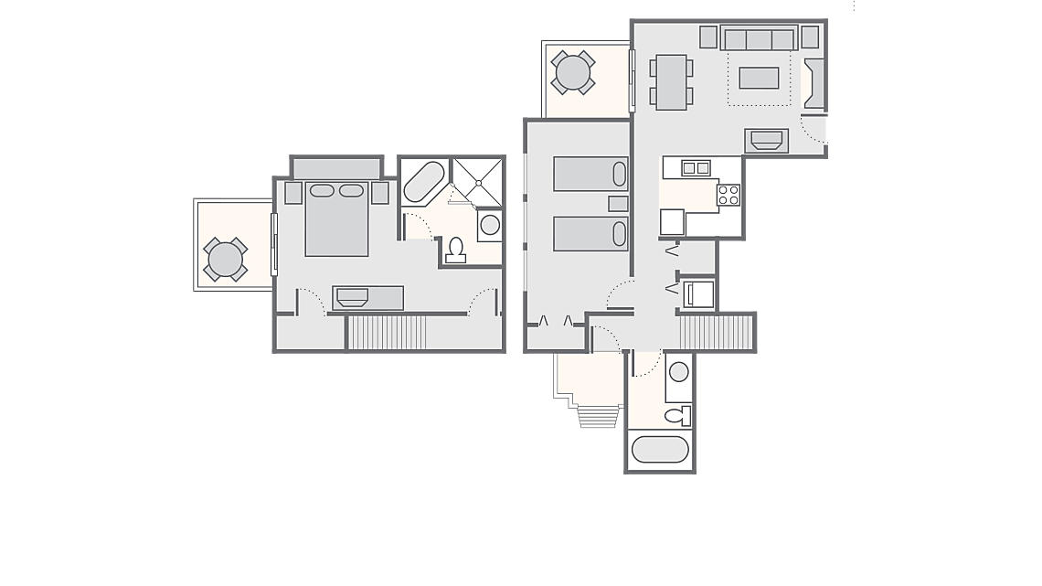 2 Bedroom Townhome 1,200 SQ FT (includes washer/dryer)