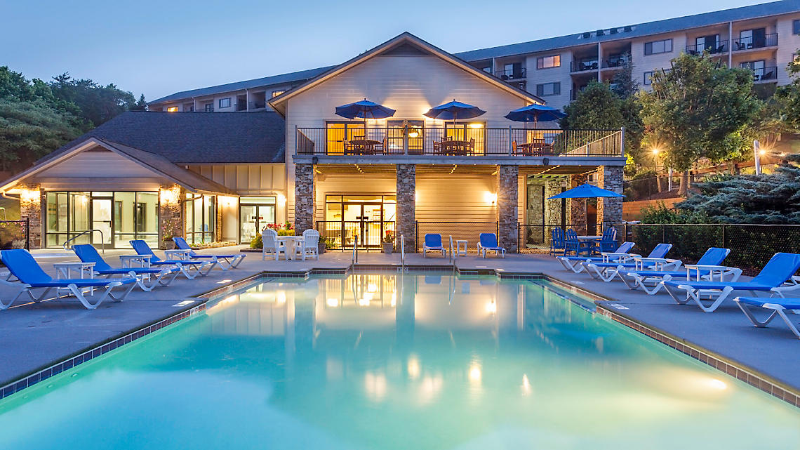 Outdoor Resort Pool and Clubhouse