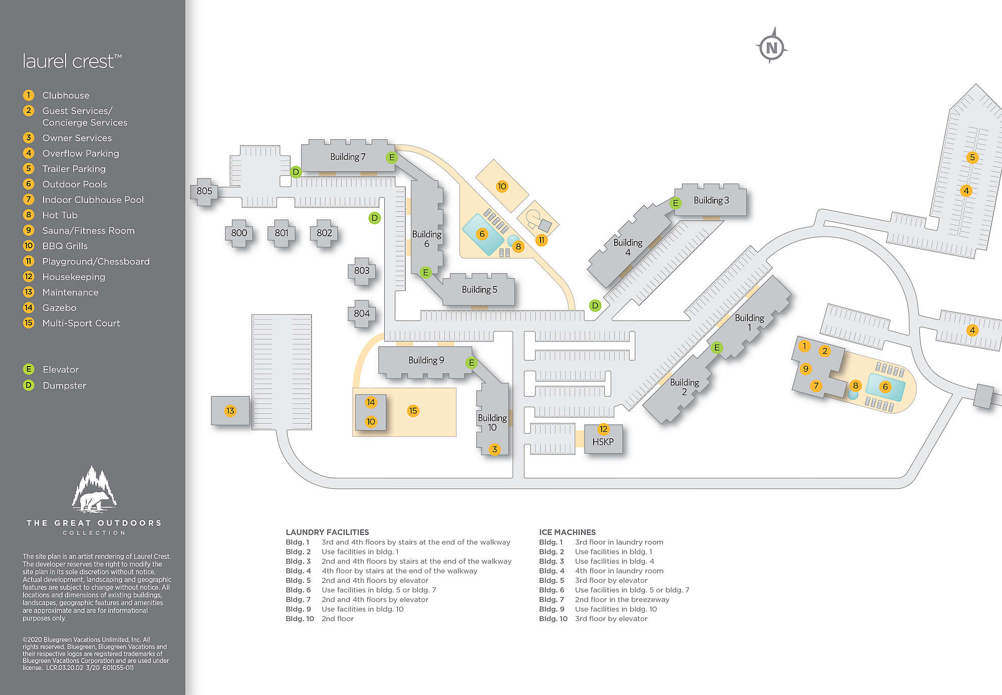 Laurel Crest™ Site Map