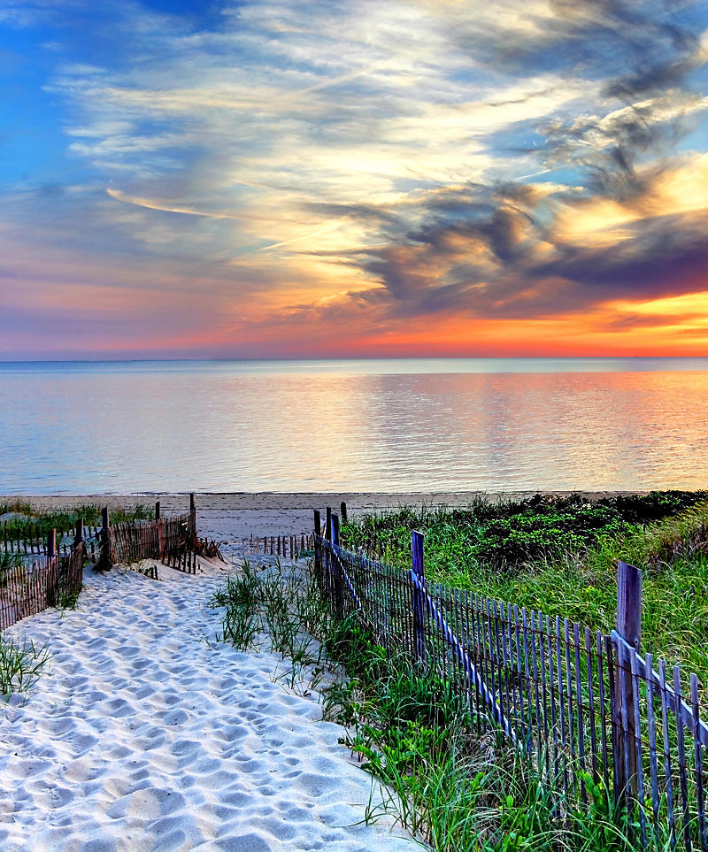 Massachusetts - Cape Cod summer beach sunset