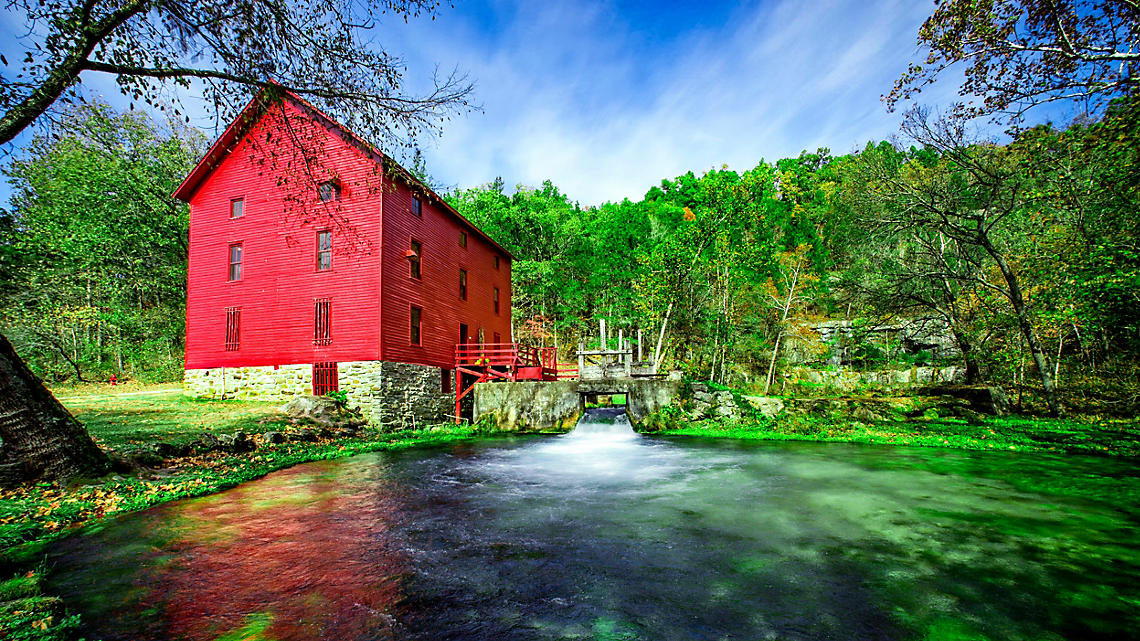 The historic Alley Mill in Eminence, MO.