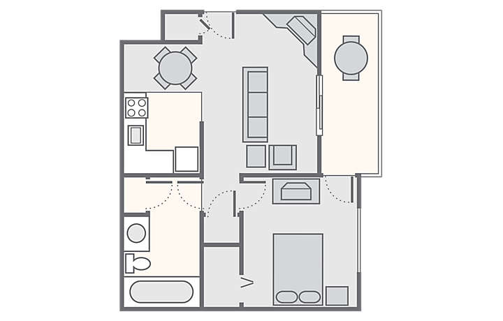Mountain Run at Boyne™ 1 Bedroom, 689 sq ft.