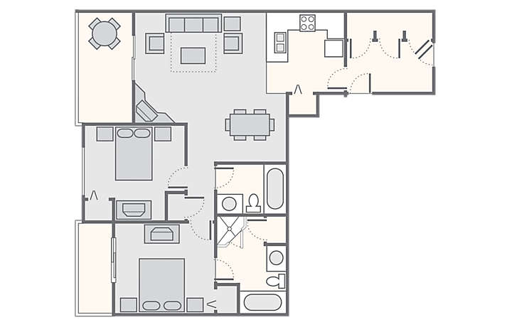 Mountain Run at Boyne™ 2 Bedroom, 1,165 sq ft.