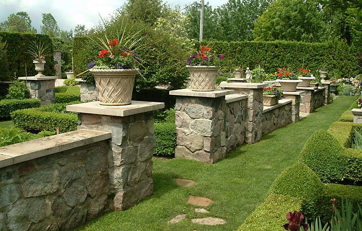 Manicured gardens in Michigan