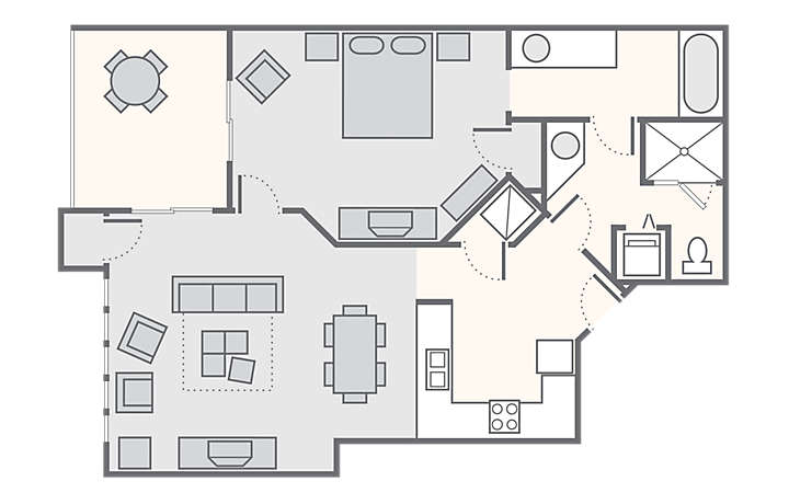 MountainLoft™ 1 Bedroom Deluxe, 860 sq ft.