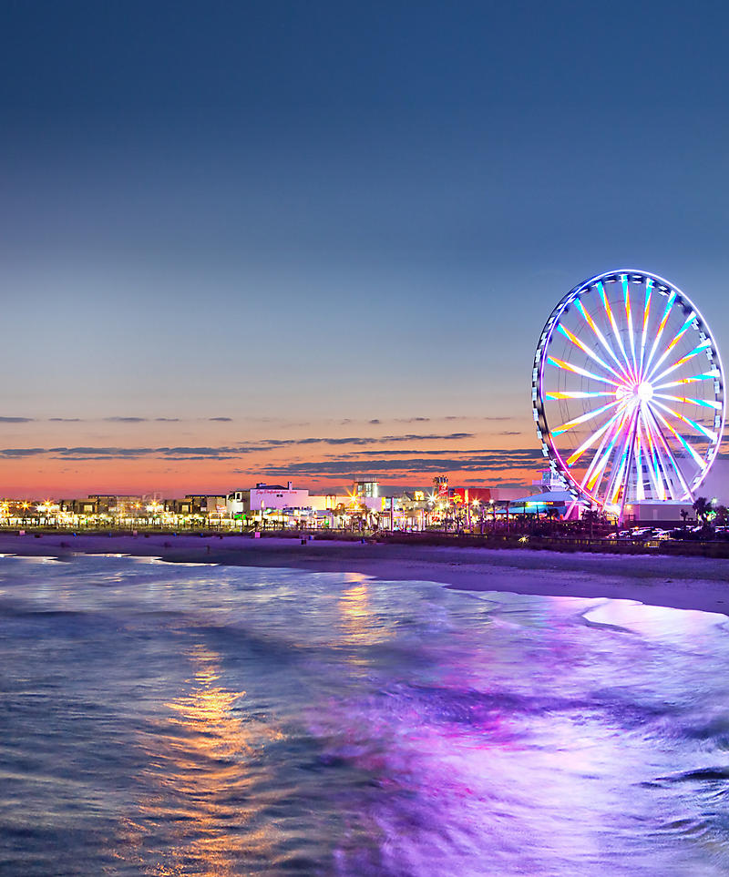 Myrtle Beach South Carolina Seaside Amuts And Fun In The Sun