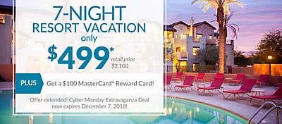 7-night resort vacation