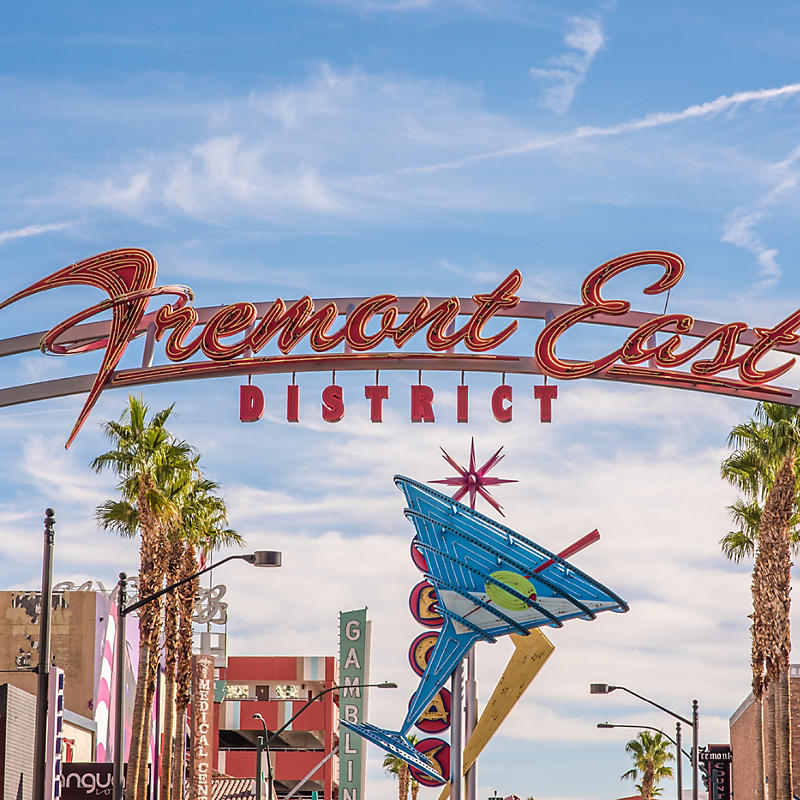 Fremont East District entrance sign