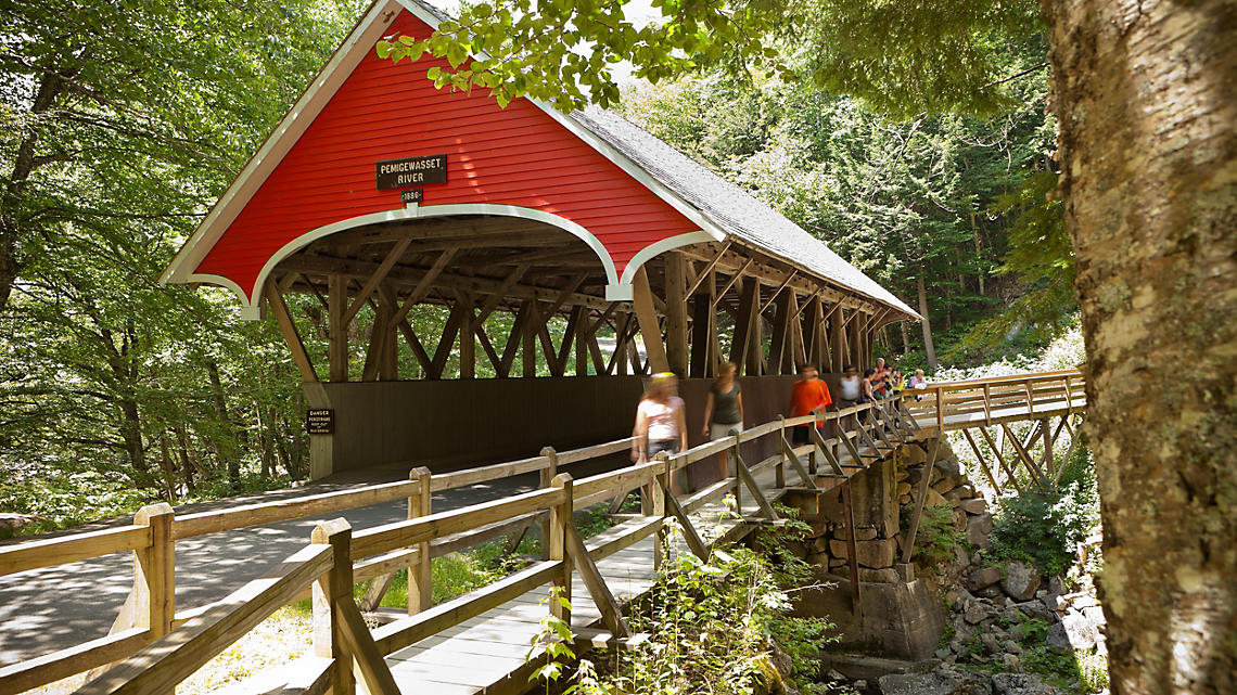 1886 covered bridge over the Pemigewasset River