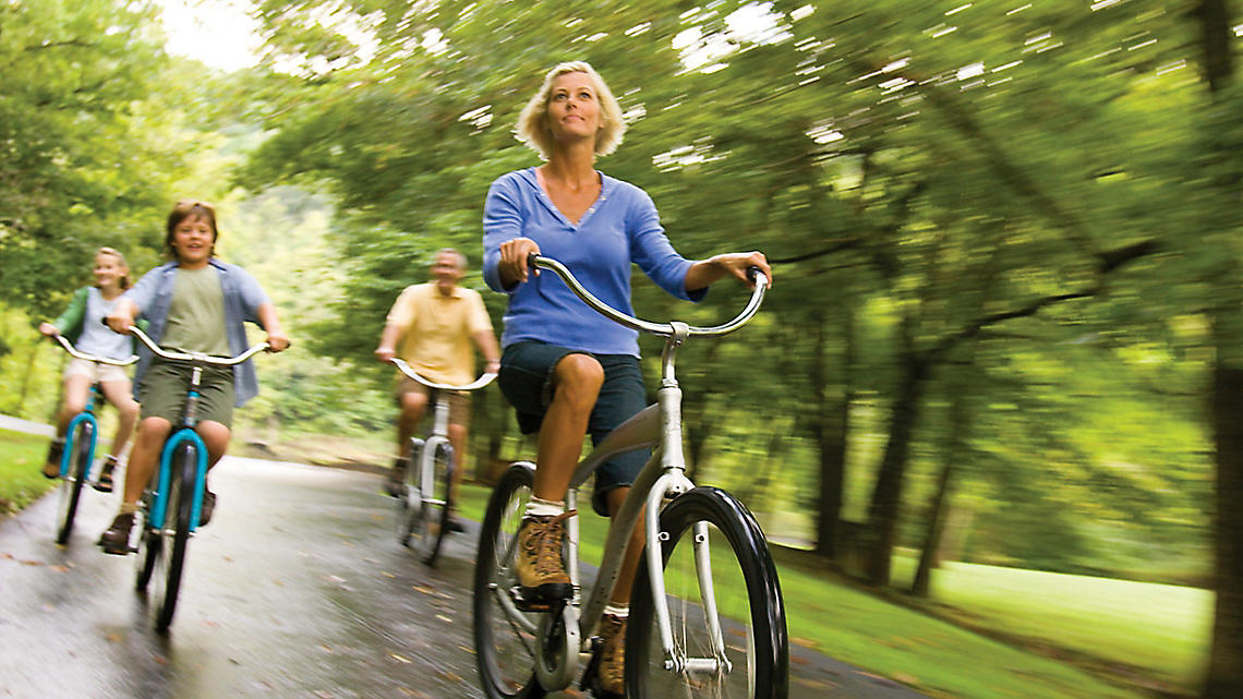 Family-friendly bike rides on the trails