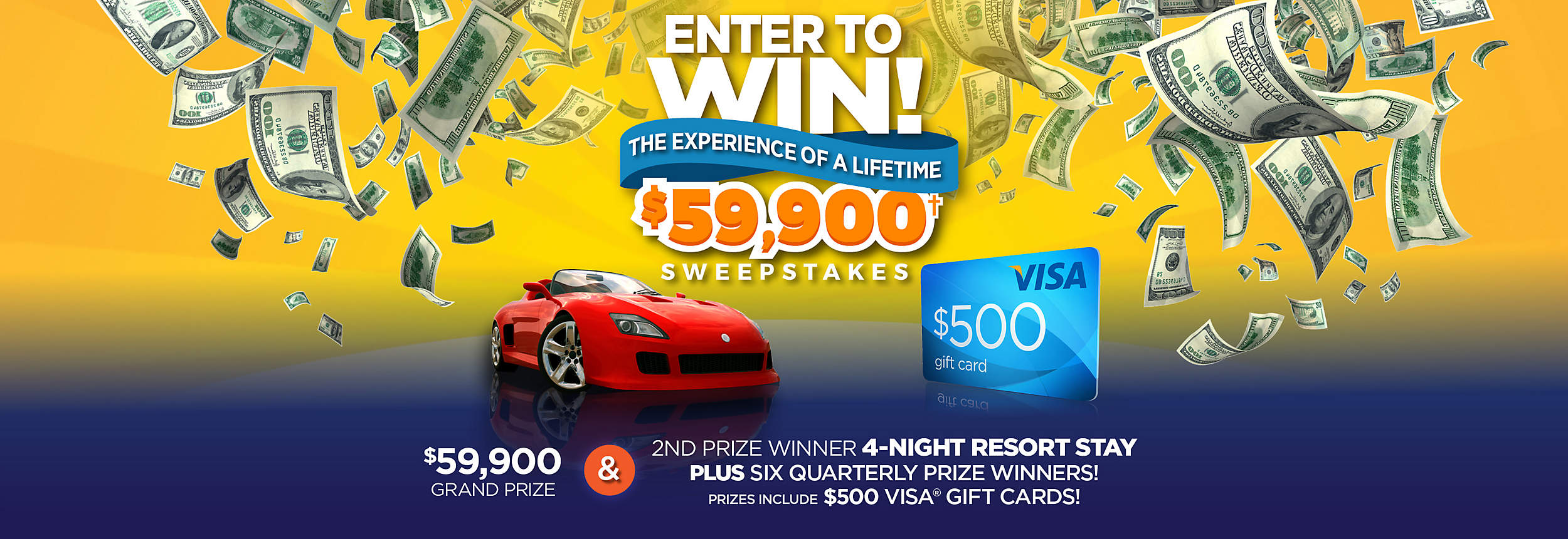 Enter to Win! The Experience of a Lifetime $59,900† Sweepstakes
