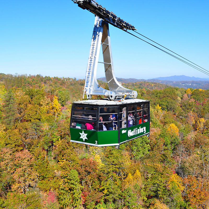 Ober Gatlinburg tram ride in the fall