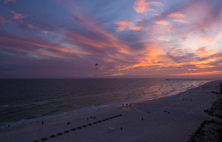 Ocean Towers Beach Club Sunset