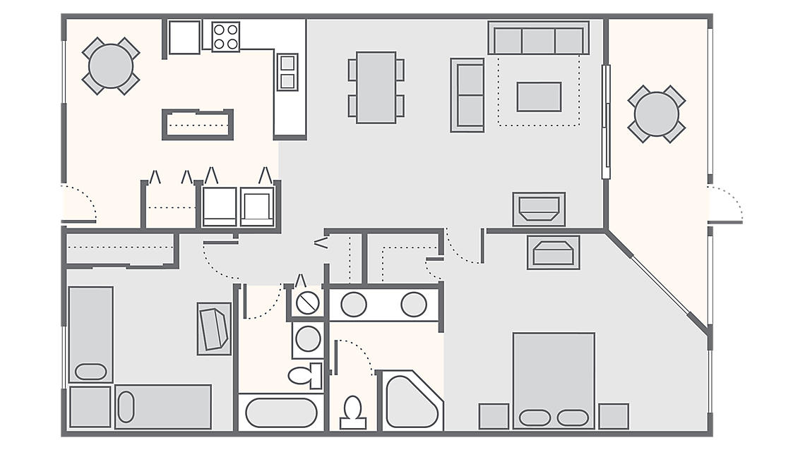 2 Bedroom - Phase 1 1,380 SQ FT