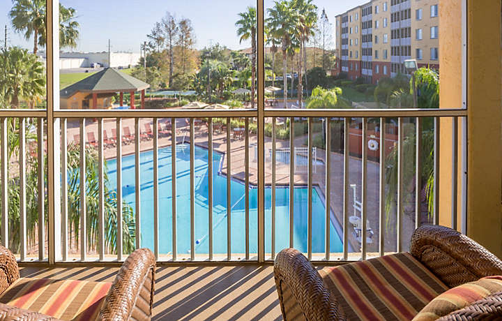 Orlando's Sunshine Resort™ Two Bedroom Villa Balcony View