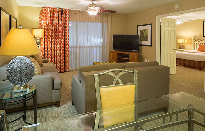 Orlando's Sunshine Resort™ Two Bedroom Villa Living Area
