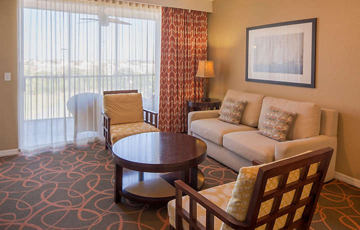 Orlando's Sunshine Resort™ Two Bedroom Villa Living Room
