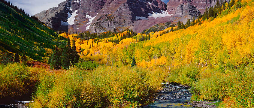 Aspen, Coloardo - mountainside in autumn